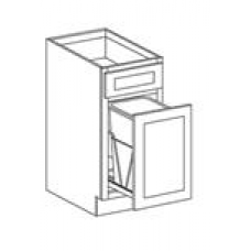 TRASH CAN BASE CABINET--ONE DRAWER,ONE DOOR--BWBK18